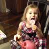 lolly pops sent from Aunt Robin<br /> Emma's watering pot from Grandpa