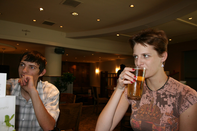 Our first beers in Europe.