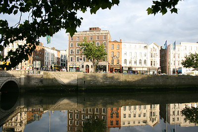 Reflections in the River Liffey.