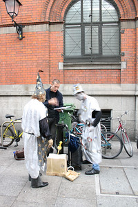 Street entertainers...