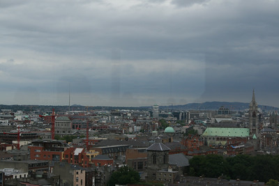 The Spire from the Guinness Storehouse.  Looking toward the direction of the Ashfield House Hostel and Temple Bar area.