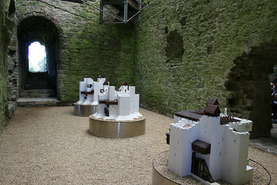 Models of the castle.  The castle changed and grew over the years.