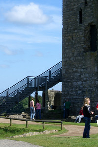 Trim Castle. Jackie and Kathie going on a tour.