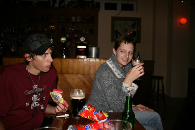 Our first night in Lisdoonvarna.  We got to the cottage at 11pm, and went out for some Guinness. (The Rathbaun Hotel)