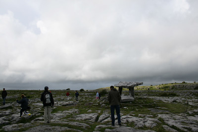 People around Poulnabrone