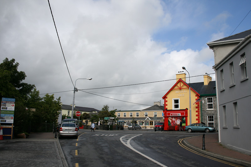 Coming into Lisdoonvarna from the cottage