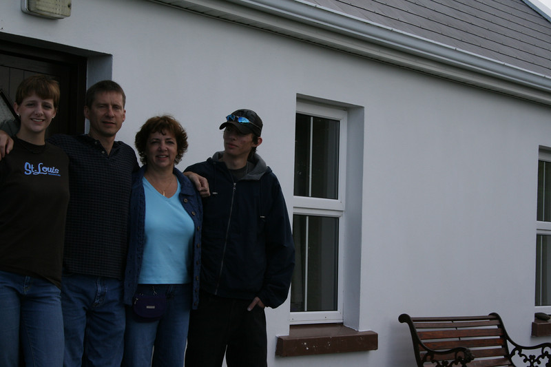 Leaving the Cottage in Lisdoonvarna, Ireland.  Bridie wasn't so sure what to do with a digital camera...