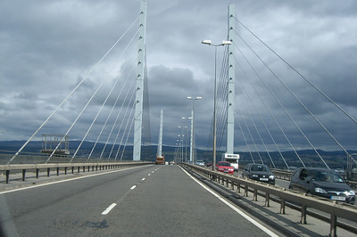 Kessock Bridge across the Beauly Firth in Inveress