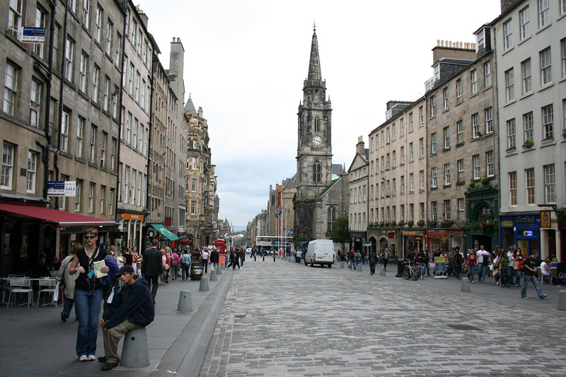 Looking down the Royal Mile from the Castle to Holyrood
