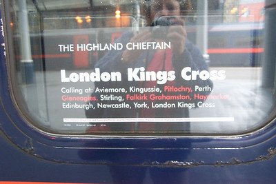 The Highland Chieftan taking us to the  London Kings Cross train station and tube station.
