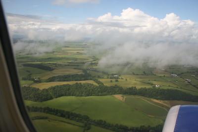 Flying over Scotland.
