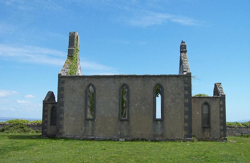 Church remains in the Aran Islands.
