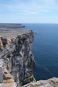 A cliff on the Aran Islands