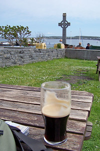 Guinness and a cross on the Aran Islands
