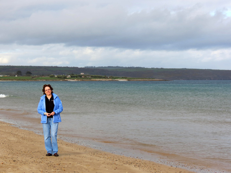 Me on the beach of Ardmore Bay.