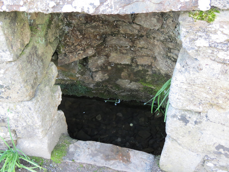 Looking down into St Declan's well.