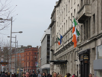the busy streets of Dublin - O'Connell Street