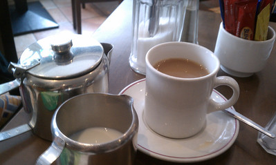 Aaah - tea!  (the way it is supposed to be made!)