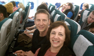 YAY!!  We're on the Air Lingus flight to Dublin!