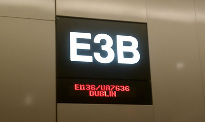 The gate for Dublin at Boston Logan airport.