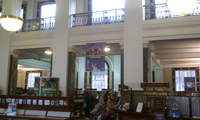Inside the General Post Office where the Irish Rebels barricaded themselves.