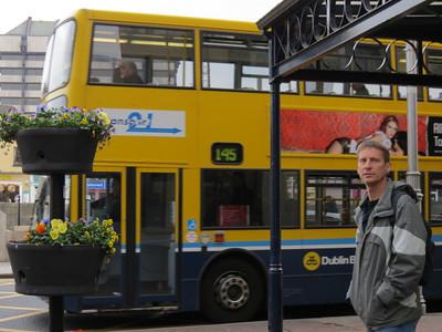 Dan in front of in front of Dublin Wollen Mills.