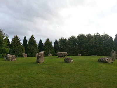 In the centre of the circle is a type of burial monument known as a Boulder Burial. These are rarely found outside of south-western Ireland.