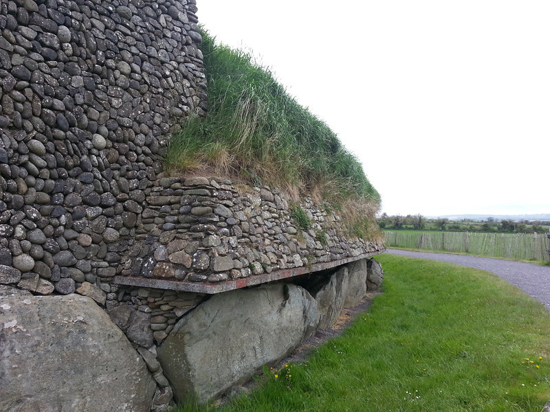 more of the exterior wall of Newgrange