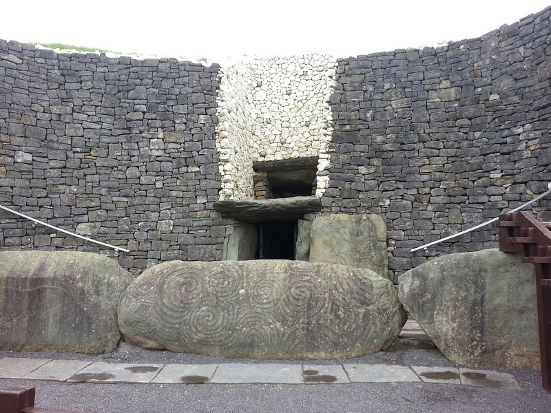 The entrance to Newgrange (after the other people had gone inside)