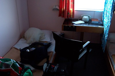 My cabin and junk on the ferry