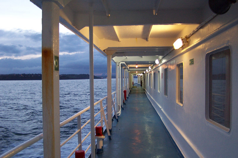 View along the ferry