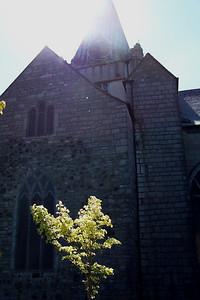 St. Nicholas' Church in the sunlight