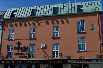 Imperial Hotel - with a stone set on the second floor wall