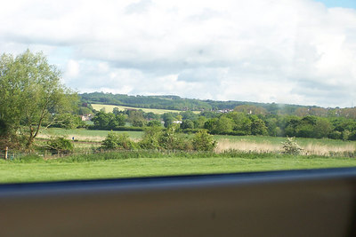 Between Cardiff and Gloucester