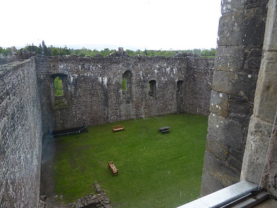 Inside the castle wall