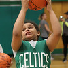 Lynn, Ma. 5-24-17. April Aguero doing ball drills during the basketball clinic run by the Boston Celtics at the Lynn YMCA.
