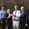 Lynn, Ma. 5-24-17. Agganis Foundation check presentation. Left to right: Peter Vergados, Jason Vergados, Frank Fotis, Tom Demakes, Constintine P. Callontzis, and Chris Tisiotos.