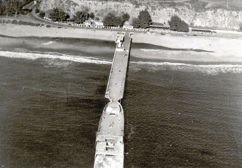 ". Visitors were once able to access the ""Cement Ship\"" from the fishing pier."