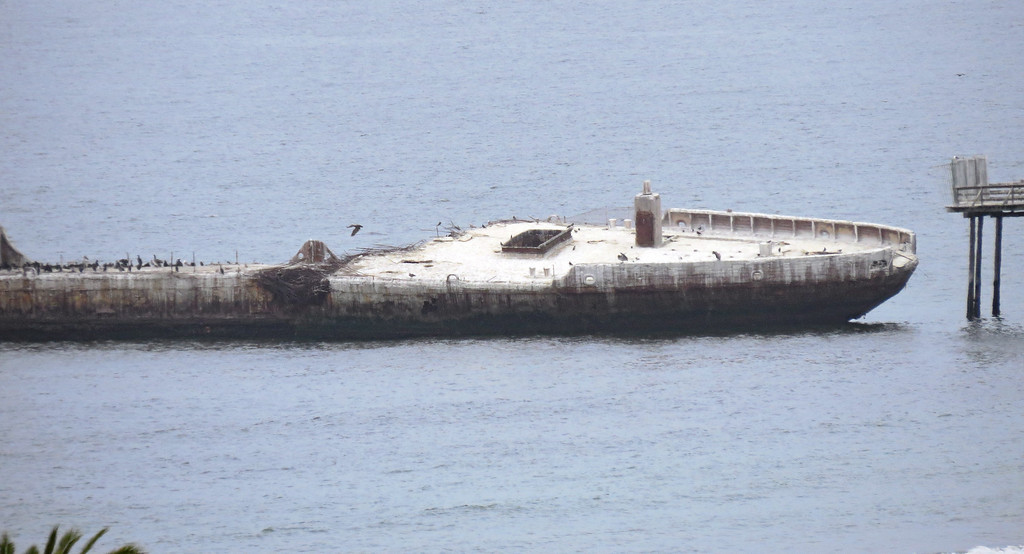 . The Cement Ship lists to its side. (Dan Ingalls -- Contributed)