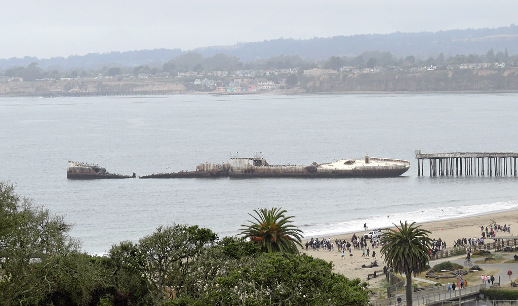 . The Cement Ship near the pier appeared to settle further on Thursday. (Dan Ingalls -- Contributed)