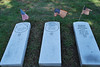 These are replacement (or for those who never had a headstone)  headstones that will be placed on the graves of Civil War veterans in the cemetery.