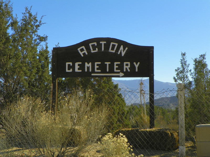 "Acton Cemetery just down the road - Posted ""No Trespassing"""