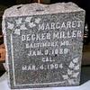 Margaret Decker Miller<br /> Jan. 9, 1829<br /> Mar. 4, 1904