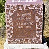 D. WHITE  1821 - 1906<br /> ISA A. WHITE  1821 - 1916