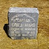 CAPTAIN CARL L. AGARD<br /> NATIVE OF DENMARK<br /> 59 YRS OF AGE<br /> DIED IN WHITTIER<br /> OCT. 28, 1911