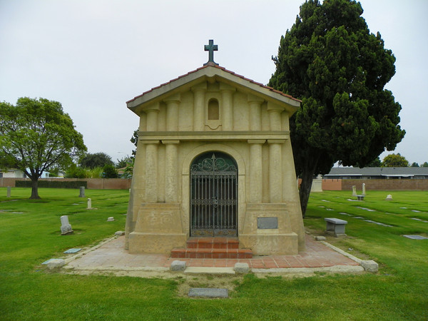Langenberger Mausoleum - John August Langenberger was very possibly the first German immigrant in the area. This building is styled after the San Francisco de Asis Mission in San Francisco.