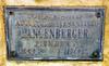 Augustus and Clementine Langenberger Memorial Plaque