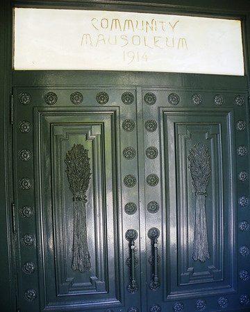 Community Mausoleum front door
