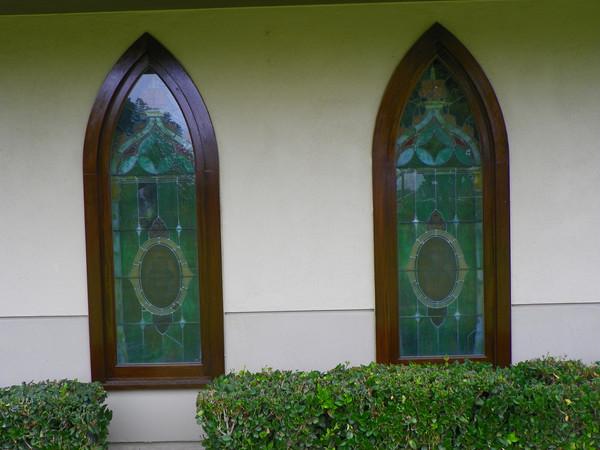 Stained glass from outside