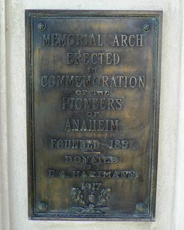 Memorial Arch Plaque